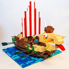 Brickies Vile Vikings LEGO Dragon Boat Build