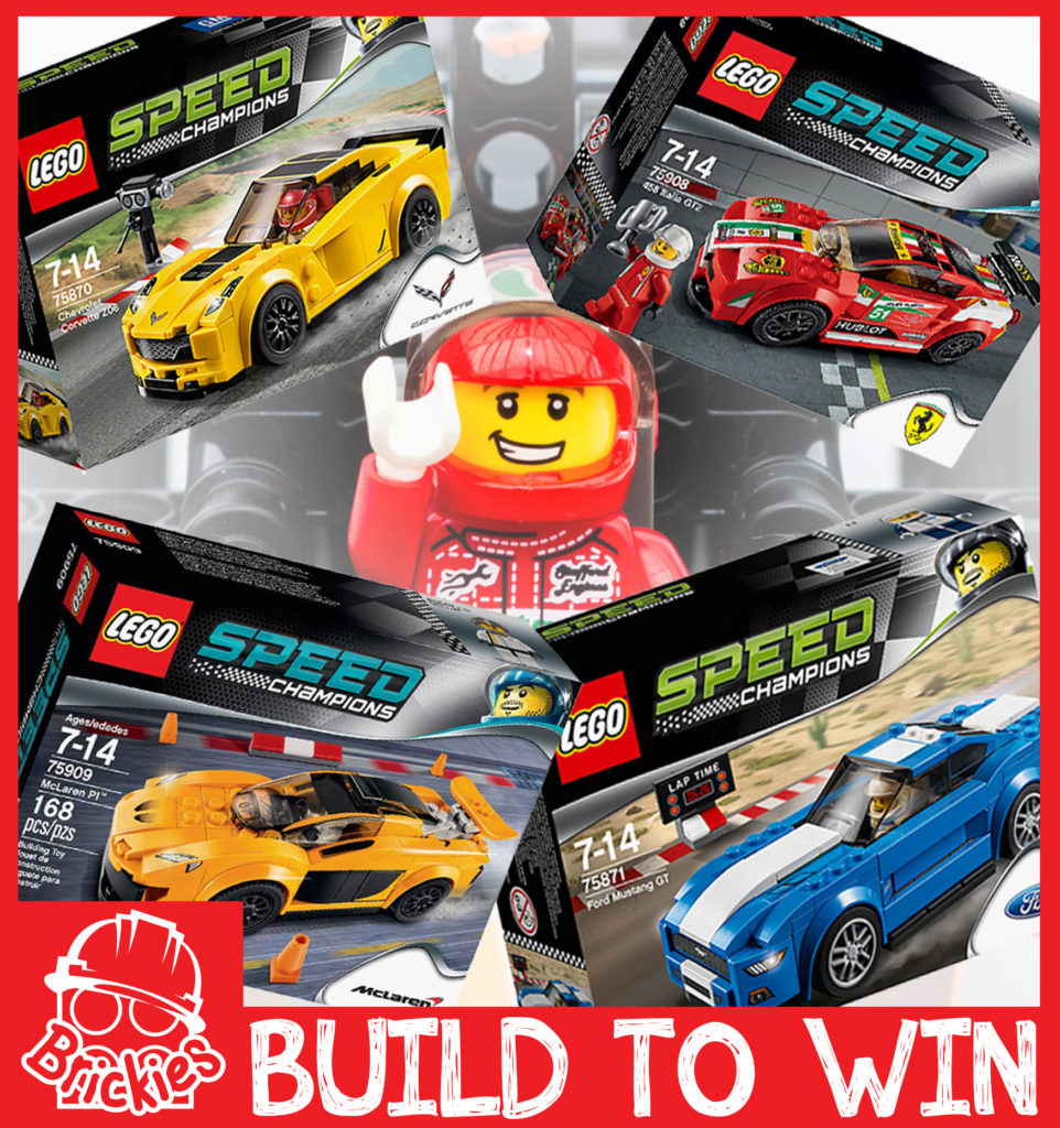 Brickies LEGO build to win competition - racing edition